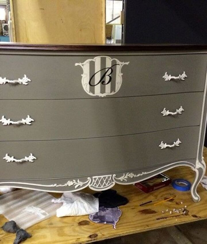 a 1940 s beauty s transformation , chalk paint, painted furniture