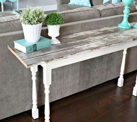 Q Looking For Some Ideas On Behind Sofa Narrow Tables Using Reclaimed, Painted  Furniture,
