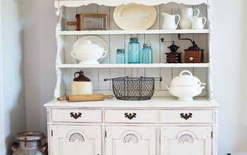 Farmhouse Hutch Chalk Paint Makeover