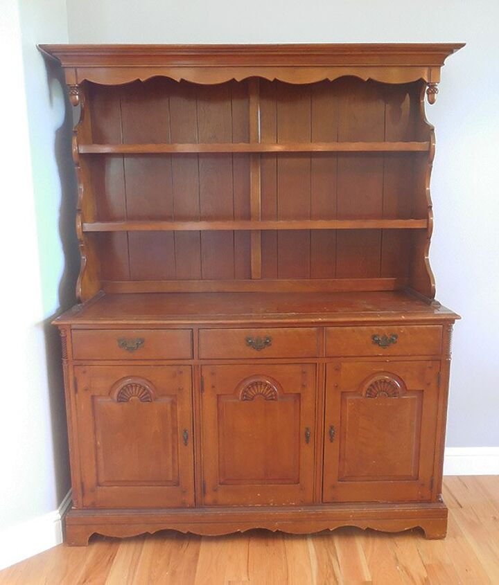 farmhouse hutch chalk paint makeover, chalk paint, how to, painted furniture