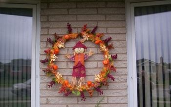 my fall wreath, crafts, wreaths