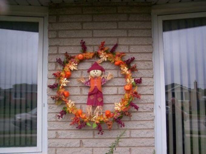 my fall wreath, crafts, wreaths