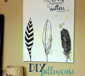 Diy Pillowcase Wall Art, Crafts, How To, Repurposing Upcycling, Wall Decor