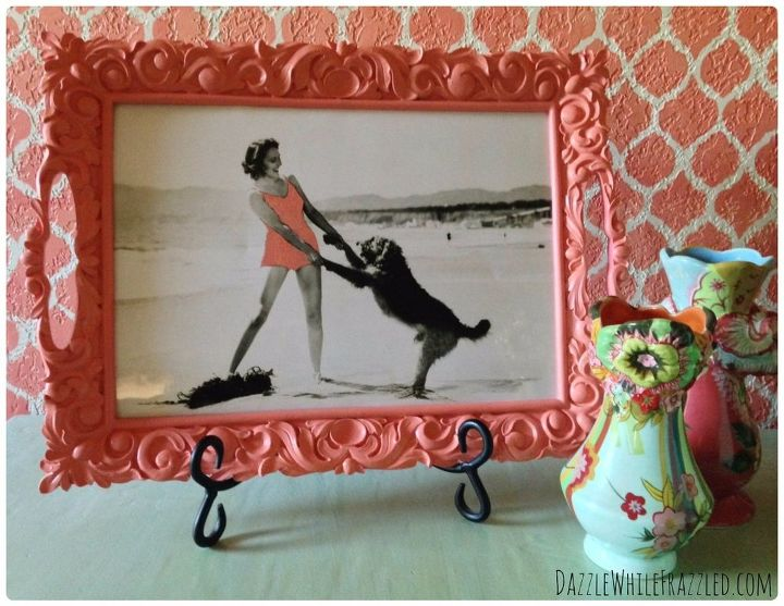 turn a tray into frame for vintage photograph, home decor, how to, painting