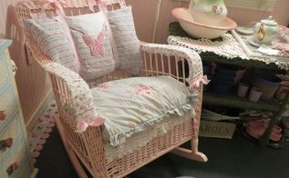 wicker rocker resurrected, painted furniture