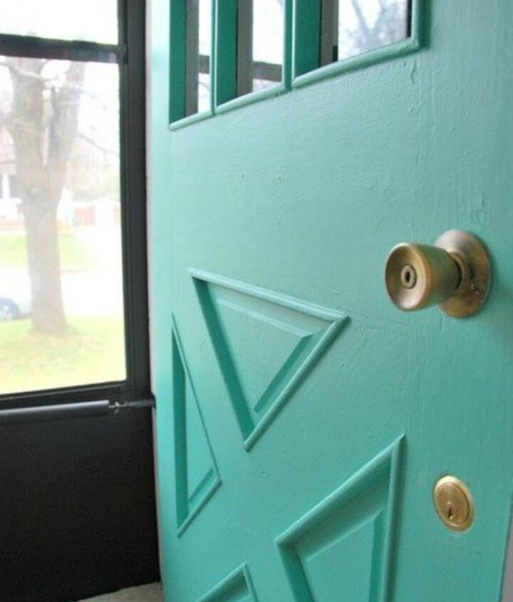 s 10 unexpected ways to use leftover paint, Glam up your front door