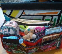 purse organizer, organizing