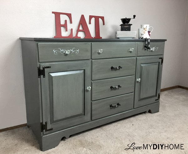 Ethan Allen China Cabinet Gets A Split Personality Kitchen Cabinets Design Painted