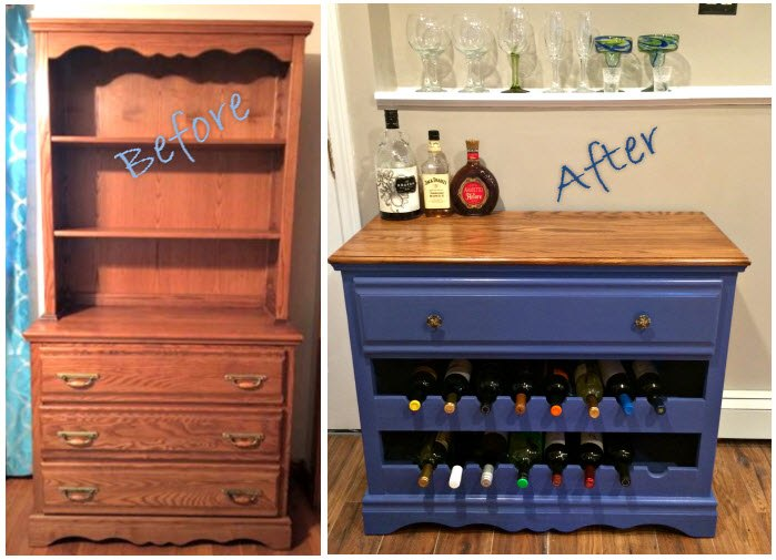 dresser to wine bar make over, painted furniture, repurposing upcycling