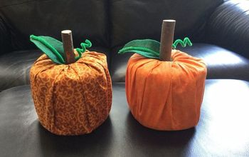 Easy Fabric Pumpkins!