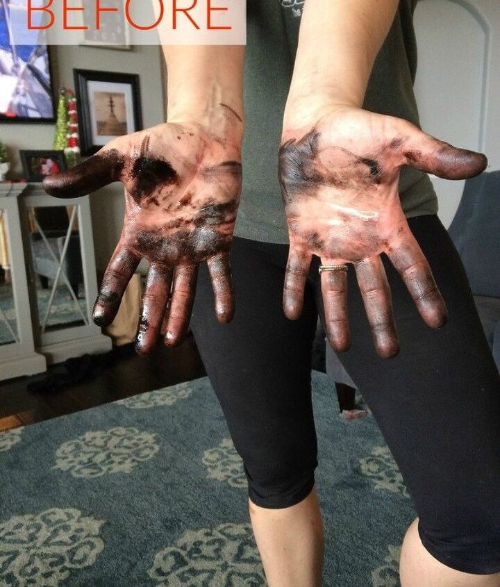 s the ultimate list of brilliant stain removal tricks, The stain Paint and wood stain on your hands