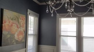 , I have 10 ft ceilings and the rooms are big I figured I could get away with painting my dinning room the same as my walls I think it turned out I wanted to show off the original woodwork in my 1930 bungalow