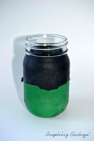 how to turn a mason jar into a frankenstein beverage cup, how to, mason jars