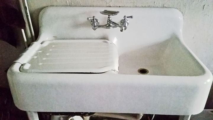 I love my NEW 100 years old vintage sink