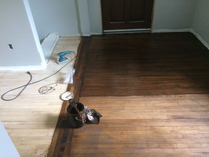 Stenciled Hardwood Floor Stencil Made With Sihouette Cameo Hometalk