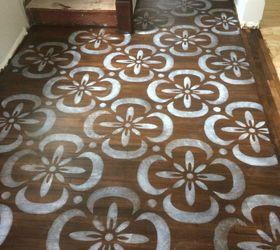 Stenciled Hardwood Floor Stencil Made With Sihouette Cameo , Flooring,  Hardwood Floors, Home Improvement MacGIRLver