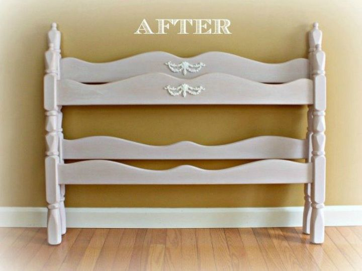 s 9 expensive looking furniture flips using cheap appliques, painted furniture, After A stunning and intricate headboard