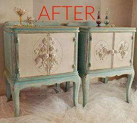 After: Elegant Vintage Nightstands