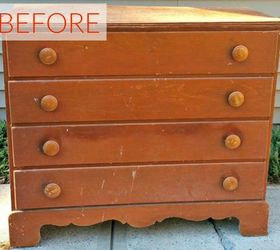 Before: A Scratched And Dingy Dresser