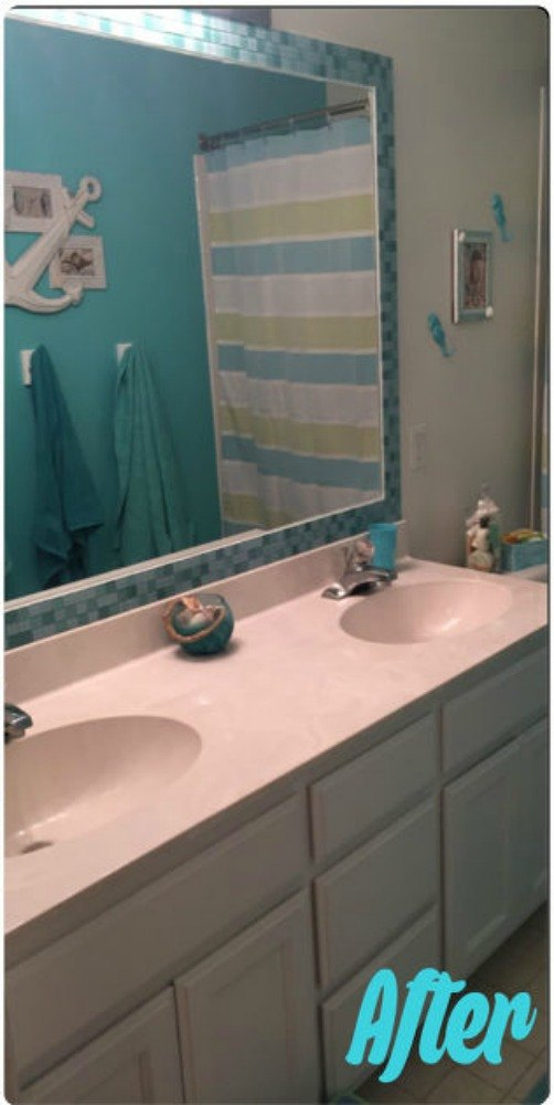 Easily Tile A Frame To Match Your Bathroom