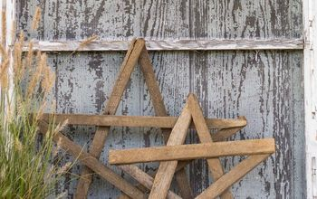 easy diy tobacco stick stars and gates, crafts, fences