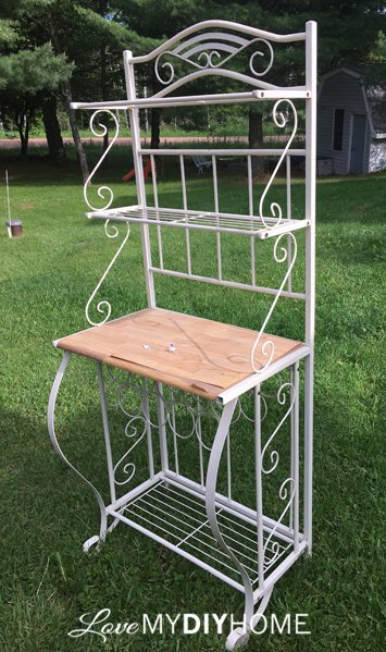 Bakers Rack Becomes a French Beauty | Hometalk