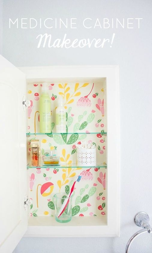 medicine cabinet refresh, bathroom ideas, kitchen cabinets, kitchen design, small bathroom ideas, wall decor
