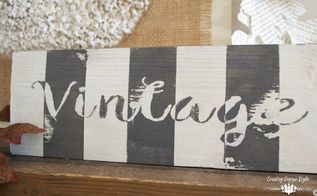 diy farmhouse style vintage sign, crafts, patriotic decor ideas