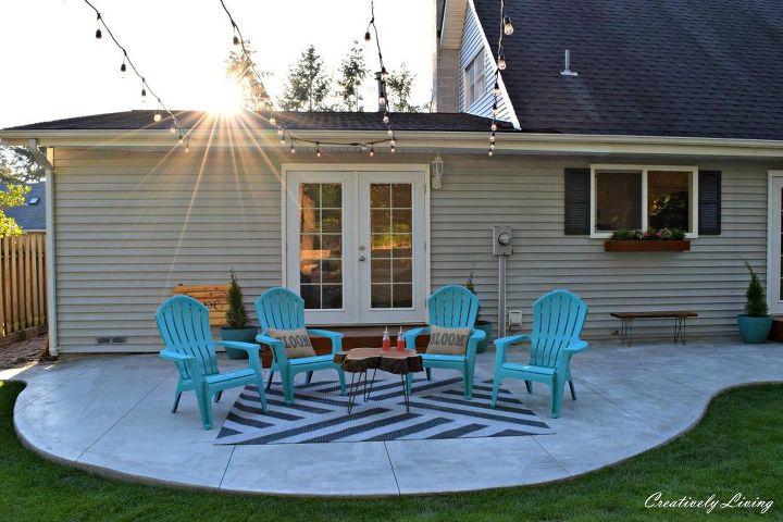 diy painted outdoor rug, reupholster