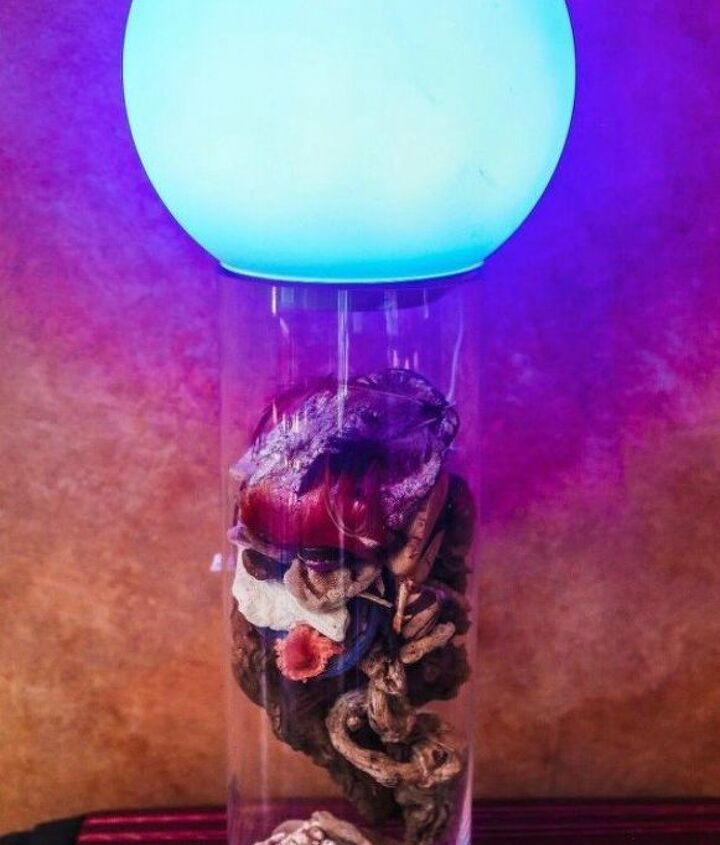 s why everyone is using hometalk blue in their home, home decor, It makes a great colorful lamp