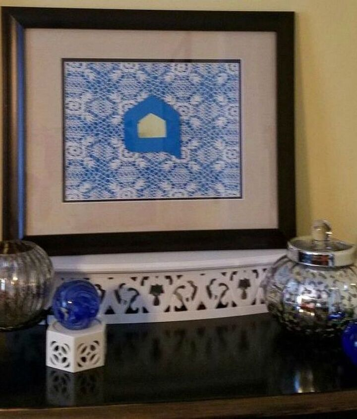 s why everyone is using hometalk blue in their home, home decor, It adds great color to a doily