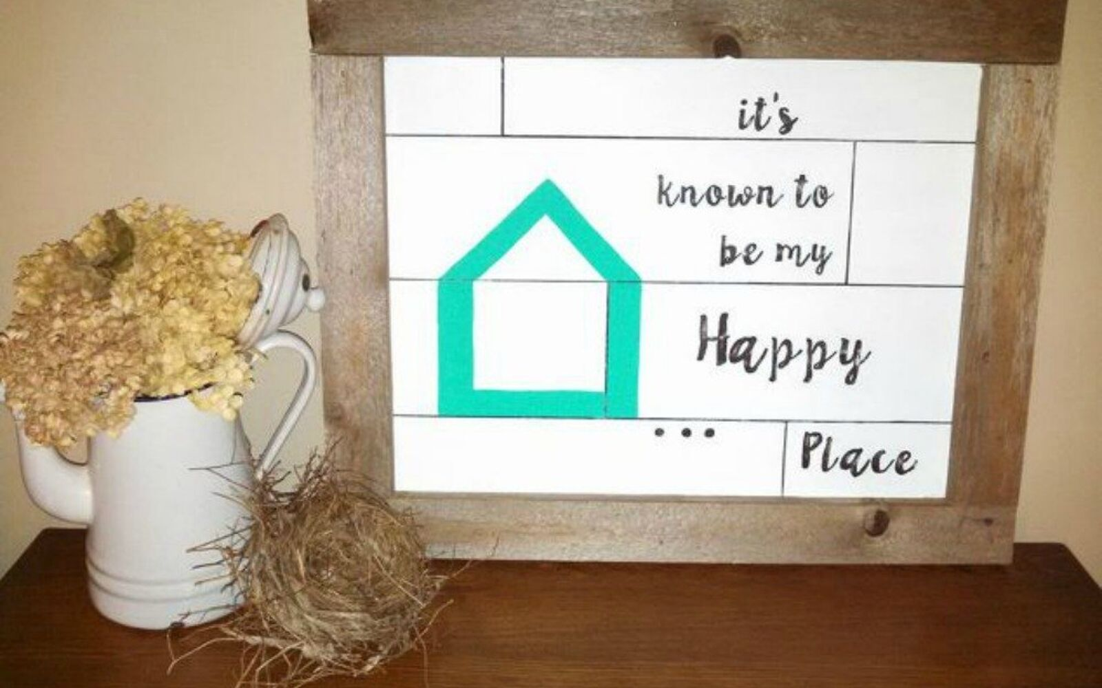 s why everyone is using hometalk blue in their home, home decor, It adds a pop of color to any sign