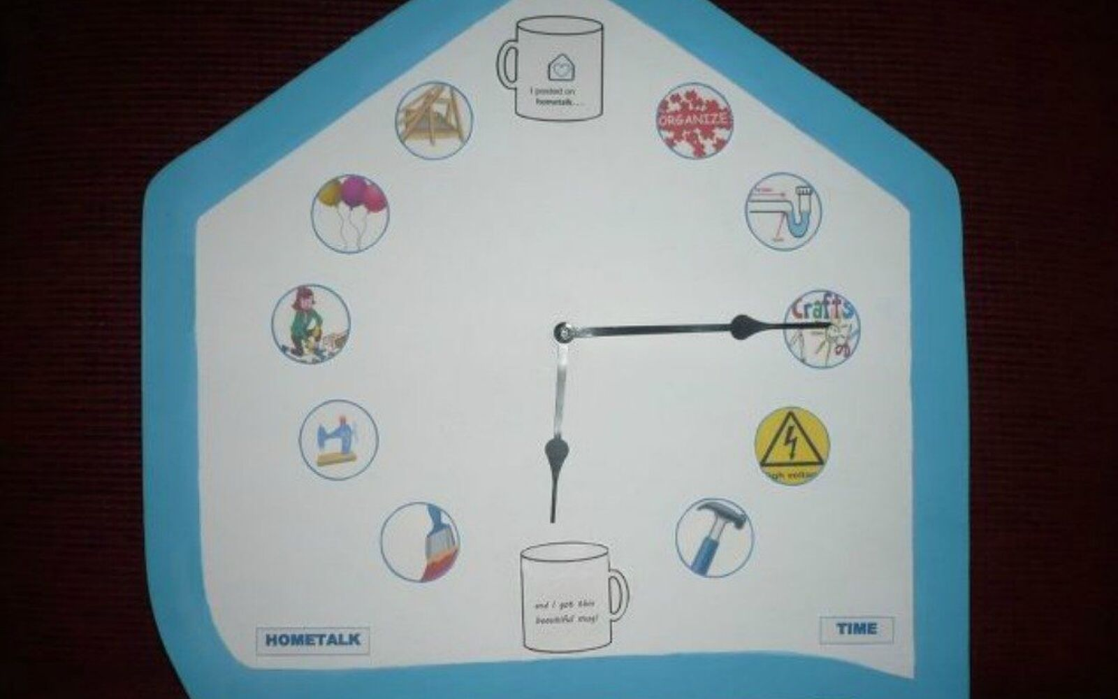 s why everyone is using hometalk blue in their home, home decor, It frames a cute clock