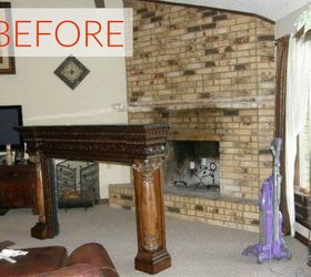 10 gorgeous ways to transform a brick fireplace without replacing it rh hometalk com how to change a white brick fireplace how to change a white brick fireplace