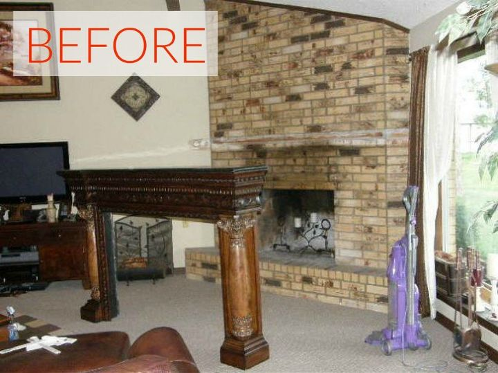 S 10 Gorgeous Ways To Transform A Brick Fireplace Without Replacing It Concrete Masonry