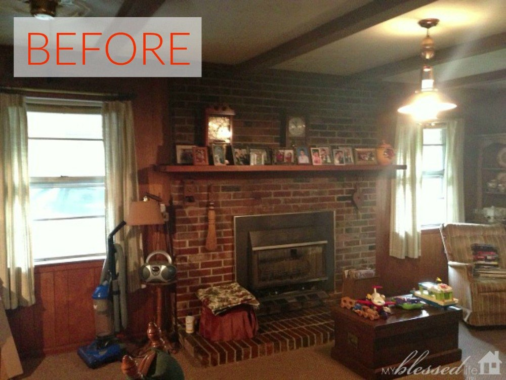 Gorgeous Ways Transform Brick Fireplace Out