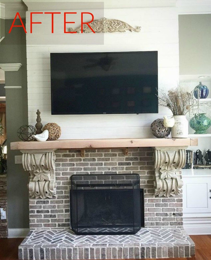 The fix: Add some faded brick and shiplap