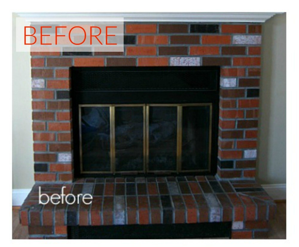 10 gorgeous ways to transform a brick fireplace without - How to make a brick fireplace look modern ...