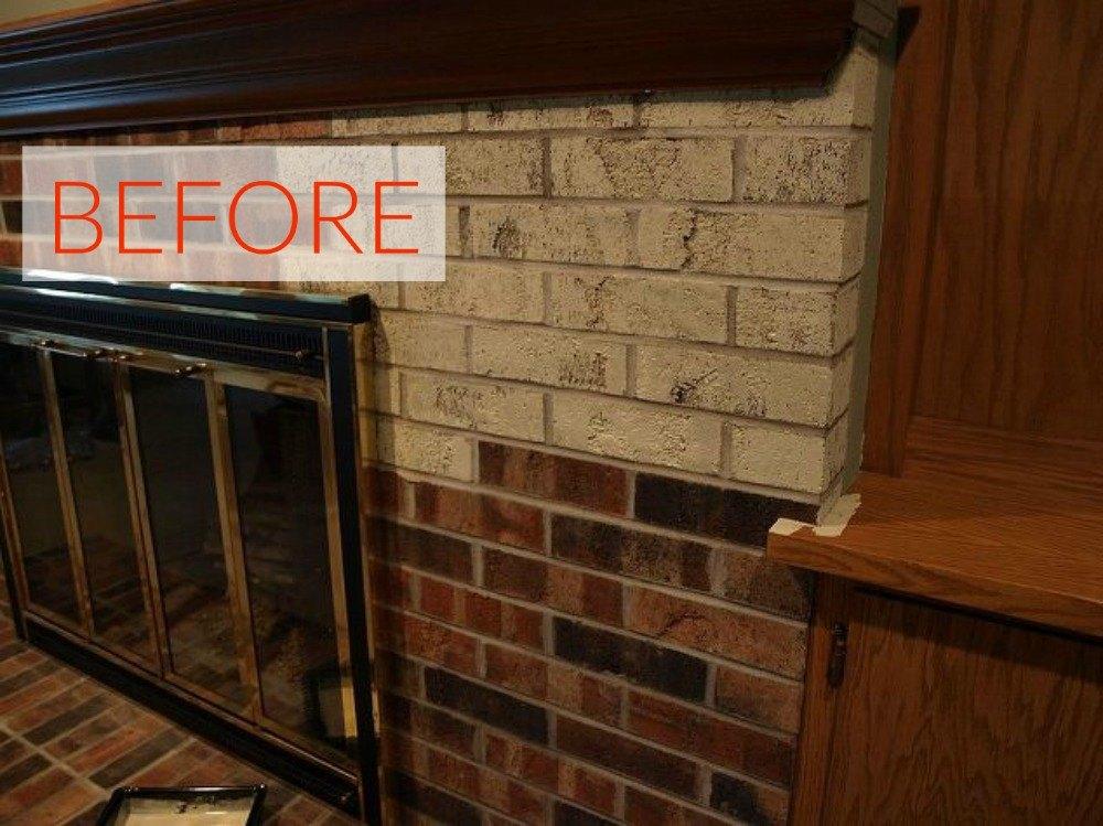Gorgeous Ways Transform Brick Fireplace Out