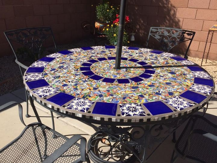 Mosaic Tile Patio Table Home Decor Improvement Outdoor Furniture Living