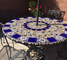 Mosaic Tile Patio Table, Home Decor, Home Improvement, Outdoor Furniture,  Outdoor Living Regina