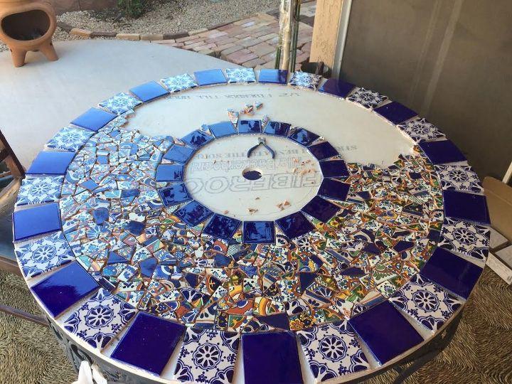 Mosaic Tile Patio Table Hometalk