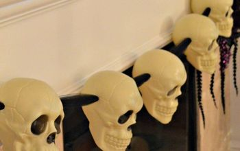DIY Dollar Store Skull Halloween Garland