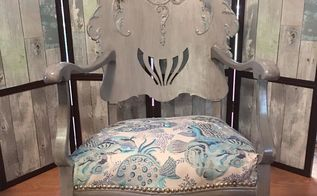 antique victorian rocking chair make over, architecture, home decor, painted furniture, repurposing upcycling