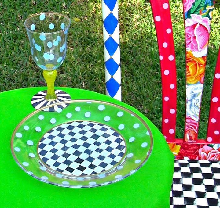 permanently paint glass dishes, crafts