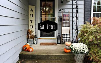 fall porch decor, home decor
