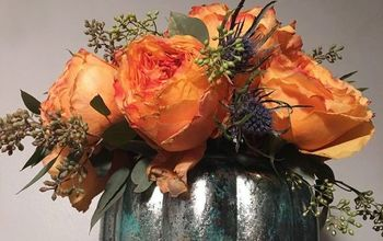DIY Mercury Glass Pumpkin Vase