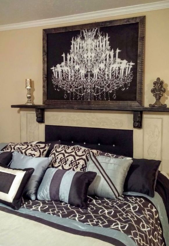 s if the space above your headboard is blank here s what you re missing, A dramatic focal point for your bedroom