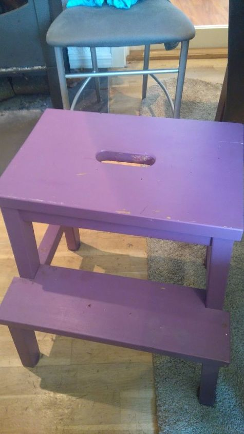 cute stool redo, cleaning tips, kitchen design, painting