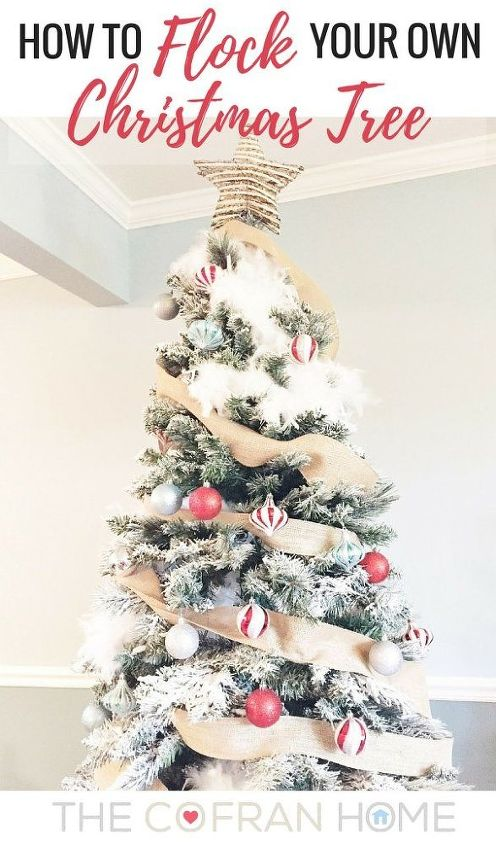 how to flock your own christmas tree christmas decorations home decor how to